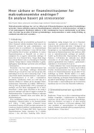 Hvor sårbare er finansinstitusjoner for ... - Norges Bank