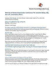 29. november 2012: Referat af bestyrelsesmøde i sektionen for ...