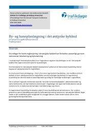 By- og baneplanlægning i det østjyske bybånd - Trafikdage.dk