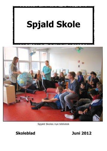Skoleblad juni 12 - Spjald Skole