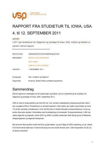 rapport - Videncenter for Svineproduktion