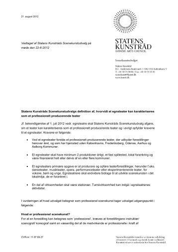 Egnsteater - karakterisering af professionelt ... - Kunst.dk