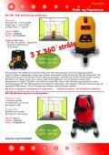 Streklasere Krysslasere Punktlasere Roterende ... - Blinken Tools - Page 3