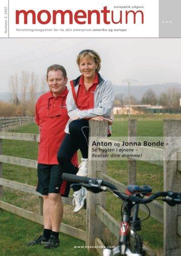 Anton og Jonna Bonde - - Nu Skin