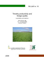 Timothy Conference (Iceland) - Alberta Agriculture and Rural ...