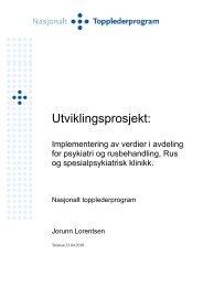 Utviklingsprosjekt: - Helse Midt-Norge