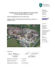 Afgørelse efter miljøbeskyttelsesloven for Saint-Gobain Weber A/S ...