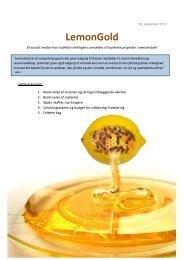 16 sider om visionen og systemet (pdf) - LemonGold