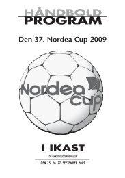 detagerinformation - Nordea Cup 2013