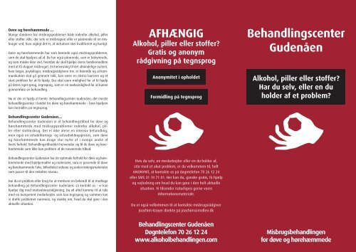 Brochure til behandlingscentret