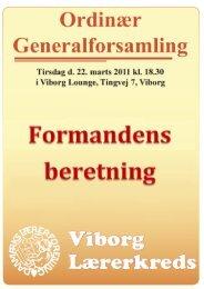 Beretning - Viborg Lærerkreds