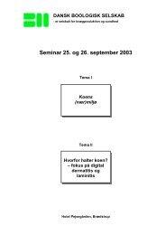 Program for fredag den 26. september 2003 - Dansk Boologisk ...