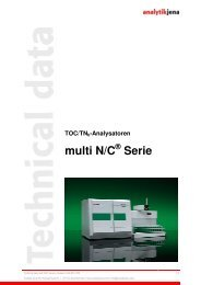 Technische Daten multi N/C Serie - Analytik Jena AG