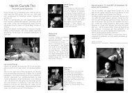 Henrik Gunde Trio The Garner experience - Gunde on Garner