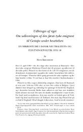 Udbringes af riget Om udleveringen af den ... - Historisk Tidsskrift