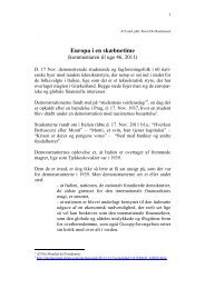 Steen Ole Rasmussen: Europas skæbnetime, 2011 - Arbejdsforskning