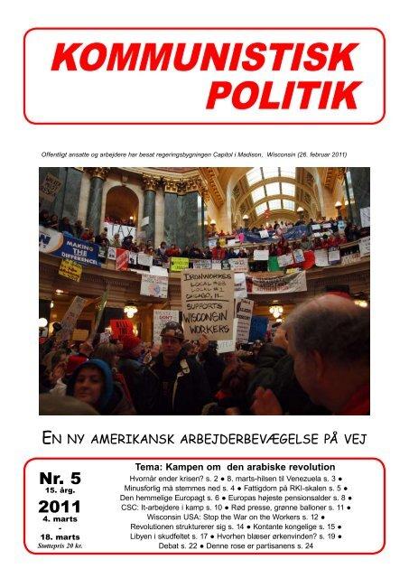 Nr. 5 2011 - Kommunistisk Politik