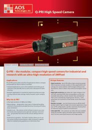Q-PRI High Speed Camera - AOS Technologies AG