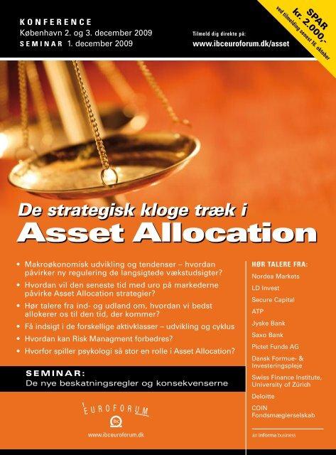 Asset Allocation - IBC Euroforum