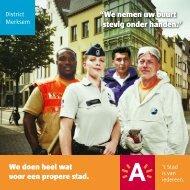 """""""We nemen uw buurt stevig onder handen."""" - Stad Antwerpen"""