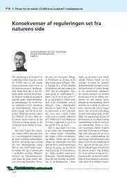 Konsekvenser af reguleringen set fra naturens side ... - LandbrugsInfo