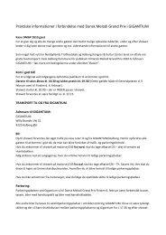 Praktiske informationer i forbindelse med Dansk Melodi Grand Prix i ...