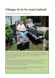 Tilbage til et liv med indhold - Forum for Ældrepædagogik