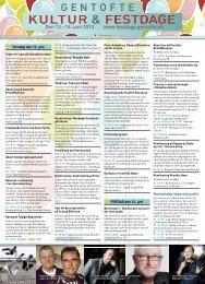 Den 13.–16. juni 2013 www.festdage.gentofte.dk - Kultur- og Festdage