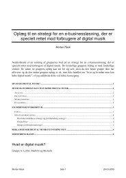 Fremtidens musikbutik og Strategi for salg af digital musik