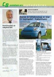 Nyhedsbrev nr. 7 / 2009 - CB Svendsen A/S