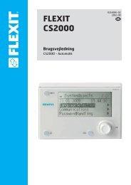 Brugsvejledning FLEXIT CS2000