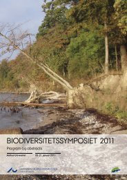 Biodiversitetssymposiet 2011 - DCE - Nationalt Center for Miljø og ...