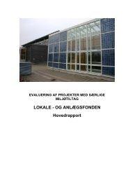 Projekter med særlige miljøtiltag - Lokale og Anlægsfonden