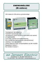 ENERGIMÅLERE (Bi-målere) - a/s Jensen Electric