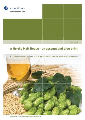 A Nordic Malt House - an account and blue print - Nordic Innovation