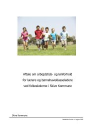 Lokalaftale - gældende fra den 1. august 2012 - Skive Kommune