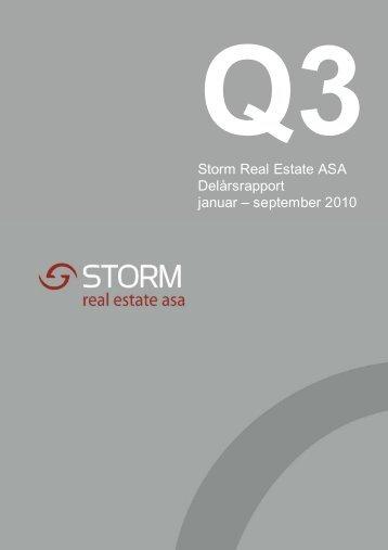 Storm Real Estate ASA Q2 2010 - Storm Capital Management