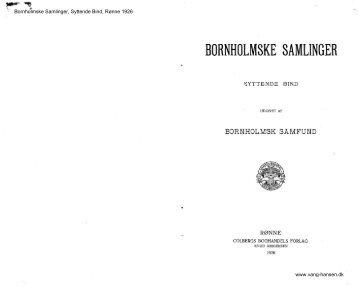 Bornholmske Samlinger - Bornholms Historiske Samfund