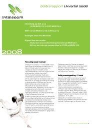 delårsrapport 1.kvartal 2008 - Intelecom