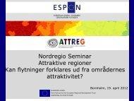 Nordregio Seminar Attraktive regioner Kan flytninger forklares ud fra ...