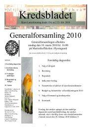 Generalforsamling 2010 - Djurs Lærerforening