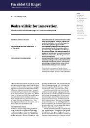 Fra rådet til tinget nr. 254 - Bedre vilkår for innovation - Teknologirådet