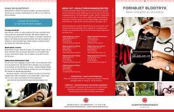FORHØJET BLODTRYK - Hjerteforeningen