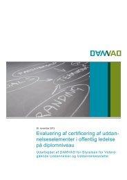 Evaluering af certificering af uddan- nelseselementer i ... - Damvad