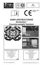 USER INSTRUCTIONS Evolution™ Counterweight System
