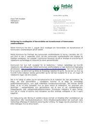 Kvittering for modtagelse af henvendelse om ... - Rebild Kommune