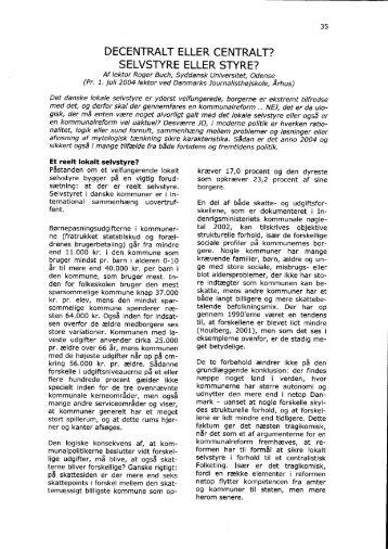 DECENTRALT ELLER CENTRALT? SELVSTYRE ... - rogerbuch.dk