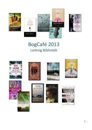 Udvalgte romaner og noveller fra 2012 - Lemvig Bibliotek