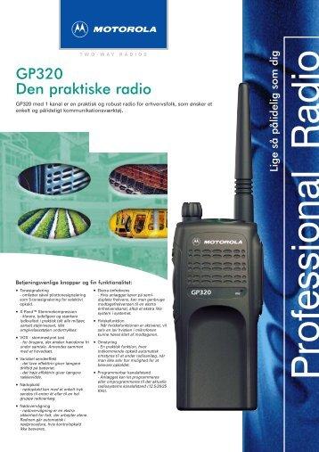 GP320 Den praktiske radio - kktsystem.dk