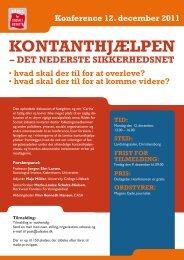 Program til Rådets fattigdomskonference 12. december 2011
